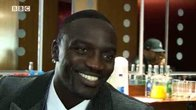 Click to play clip: Akon interview backstage at Later