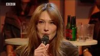 Click to play clip: Carla Bruni Interview on Later
