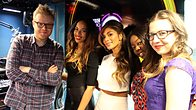Click to play clip: Nicole Sherzinger and X Factor finalists chat to Huw Stephens