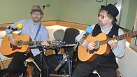Click to play clip: Chas & Dave in session for Rhod Gilbert